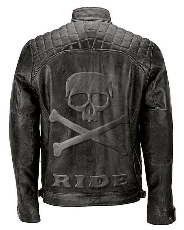 BRAND NEW MENS SLIM FIT MOTORCYCLE BLACK LEATHER JACKET