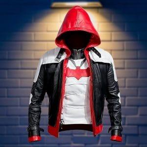 Batman Arkham Knight Gaming Red Hood Leather Costume