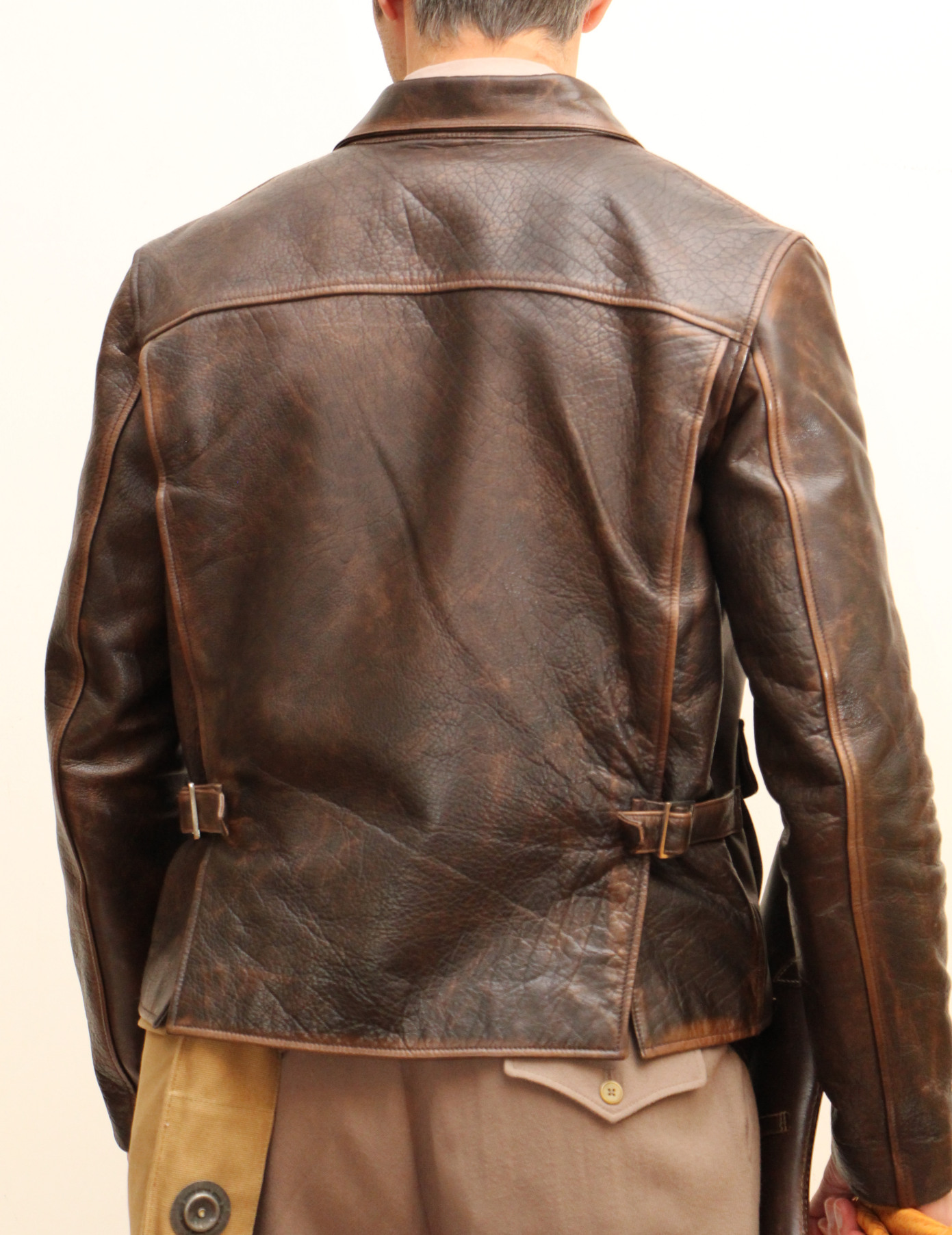 Details about  /Indiana Jones Harrison Ford Brown Vintage Real Leather Jacket