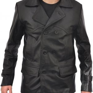 Doctor Who Black WW2 German Real Leather Jacket Coat