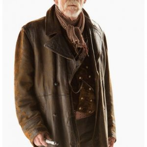 Men's Doctor Who Hurt War John Costume Brown Leather Coat