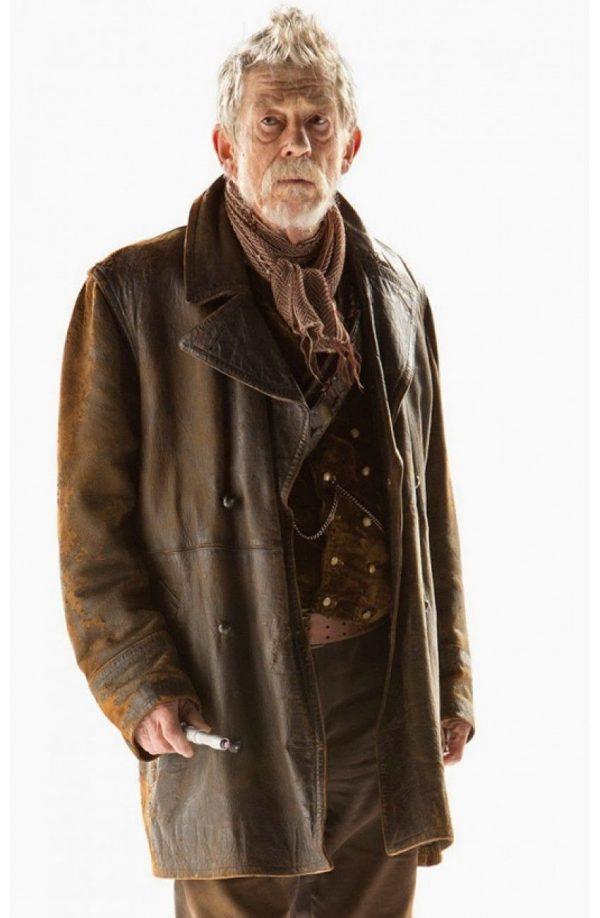 Men's Doctor Who Hurt War John Costume Brown Leather Coat