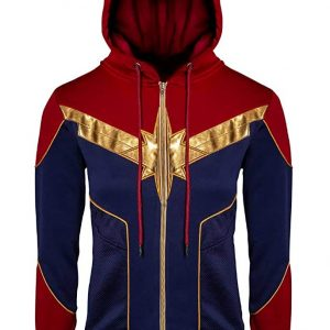 Brie Larson Golden Star Logo Fashion Hoodie