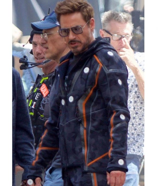 Ironman Avengers Endgame Camo Hooded Jacket