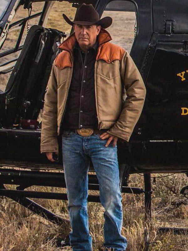 Yellowstone Kevin Costner (John Dutton) Cotton Jacket Costume