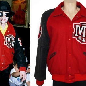 Michael Jackson Mickey Mouse Wool Varsity Jacket