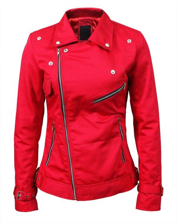 Southside Serpents Cheryl Blossom Riverdale Red Cotton Jacket