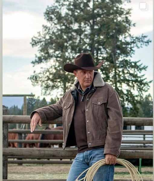 KEVIN COSTNER YELLOWSTONE JOHN DUTTON BROWN CORDUROY JACKET – ALL SIZES