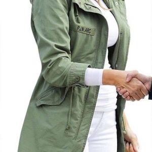 I Really Don't Care Do U Melania Women Trump Mechanic Cargo Olive Summer Jacket