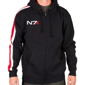 Mass Effect.N7 Cosplay Fleece Zip Hoodie Sweater Coat Jacket Game Peripherals