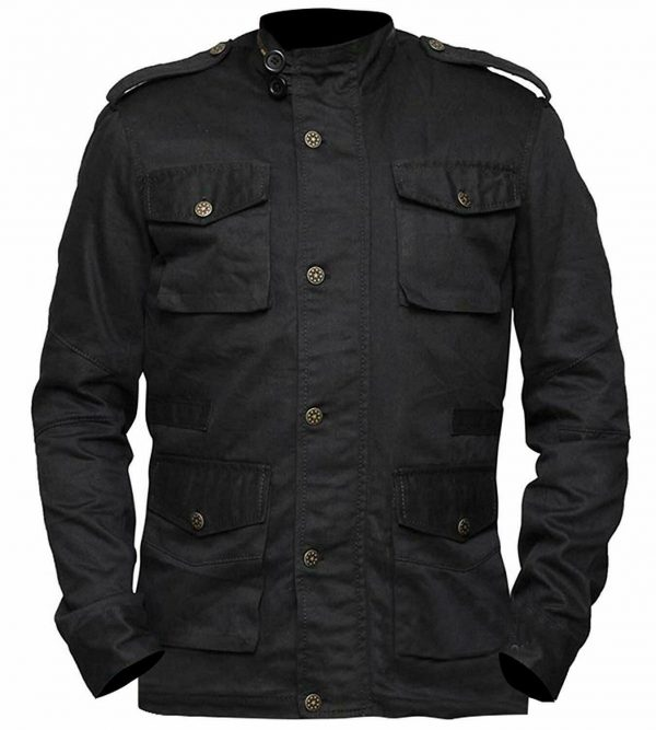 John Bernthal The Punisher Black Cotton JacketMen's