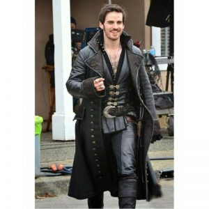 MEN'S CAPTAIN HOOK COLIN O DONOGHUE ONCE UPON A TIME LONG TRENCH COAT