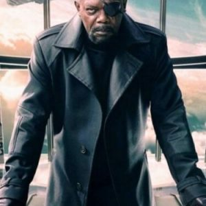 The Avengers EndGame Samuel L Jackson Nick Fury Leather Trench Coat